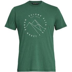 SALEWA Alta Via Dri-Release Koszulka z krótkim rękawem Mężczyźni, myrtle melange